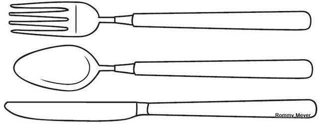 Imagenes de cucharas para colorear - Imagui